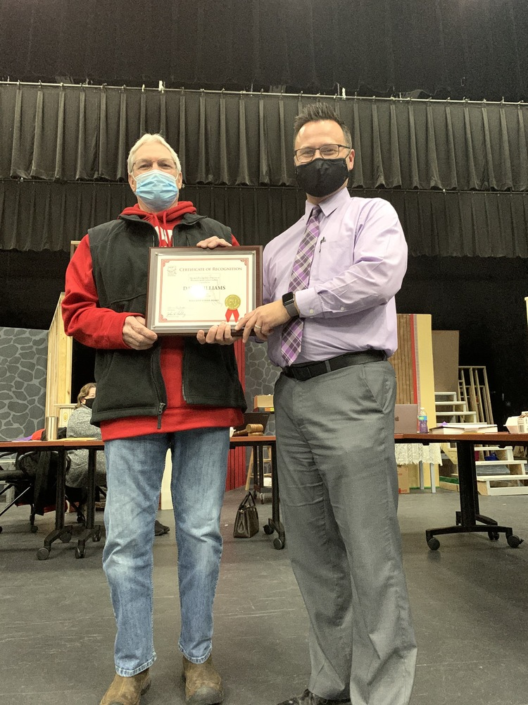 School Board Member Recognized for 20 Years of Service