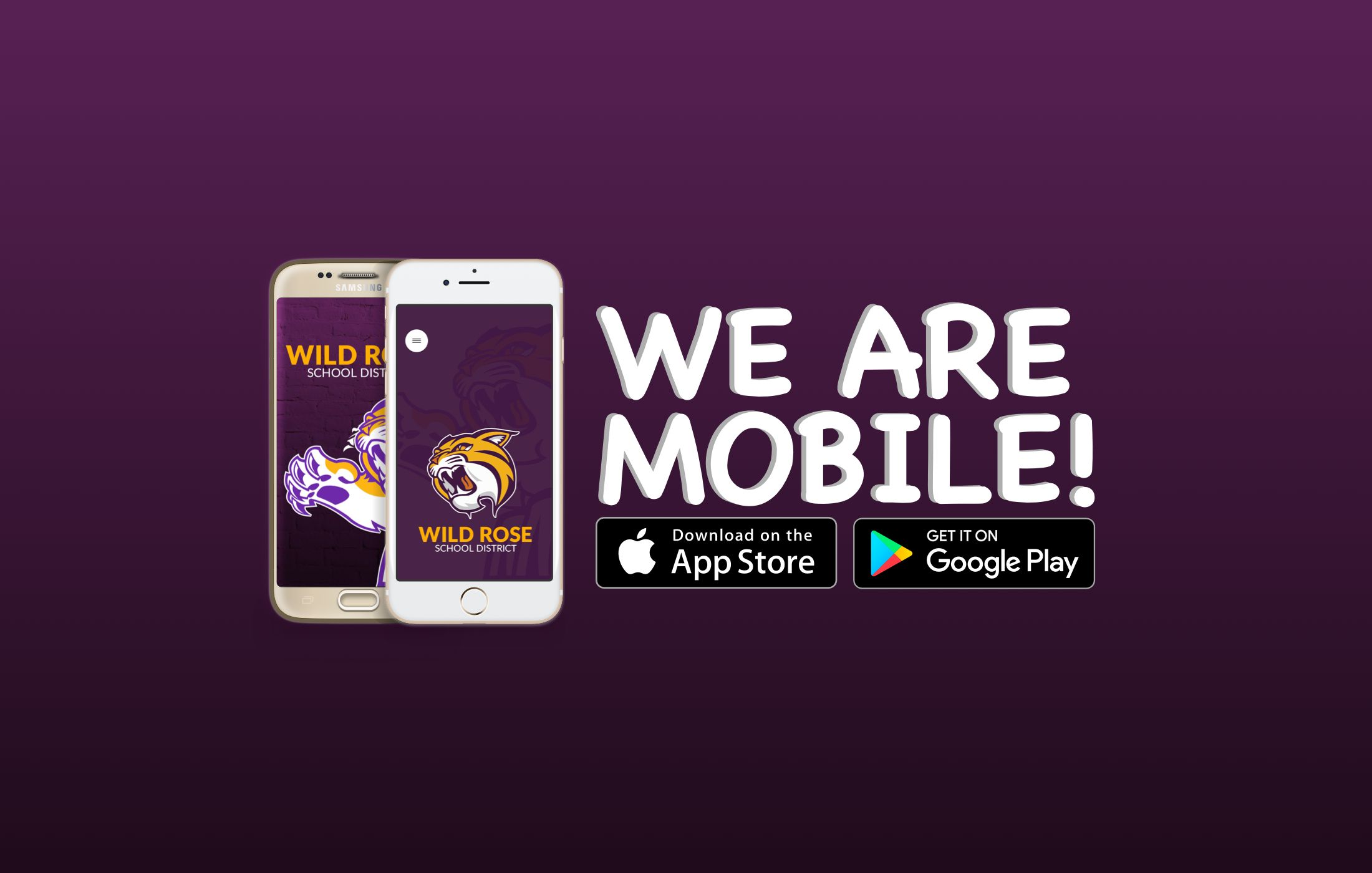 The School District of Wild Rose now has a Mobile App.